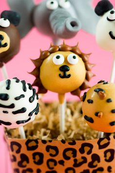 Circus Cake Pops Cake pops de animalitos del circo, ideales para fiestas infantiles.