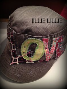 LOVE cadet hat multi colors bling women adjustable by JillieLillie, $27.00