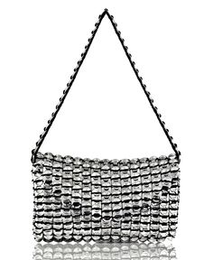 Envelope Purse made with repurposed aluminum Soda can tabs. by manos amorosas