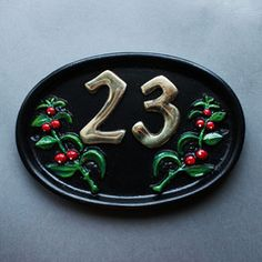 Berries House Number Sign