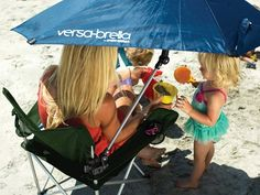 Sport-Brella Versa-Brella All-Position Beach Umbrella with Universal Clamp in Blue