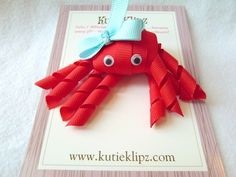Love this one!  Ruby the Red Octopus Hairbow...3D Ribbon scupture,Hair bow,Hair Accessory,Hair Clip. $4.00, via Etsy.