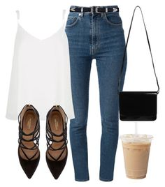 Untitled #5198 by laurenmboot on Polyvore featuring polyvore, fashion, style, River Island, Yves Saint Laurent, Aquazzura, Monki, women's clothing, women's fashion, women, female, woman, misses and juniors