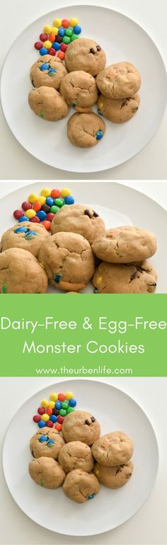 Dairy-Free and Egg-Free Monster Cookies