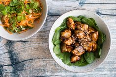 Lynhurtig teriyaki kylling og en asiatisk agurkesalat - Life By Nan