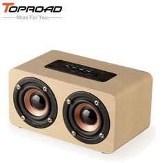 TOPROAD Wireless Bluetooth Speaker Wood Portable Audio HiFi Home Theatre Sound Receiver Stereo Music Subwoofer Computer Speakers //Price: $37.42 & FREE Shipping //     #HALOWEEN