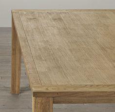 Parsons Tapered Leg Dining Table Rectangular Tables Restoration Hardware