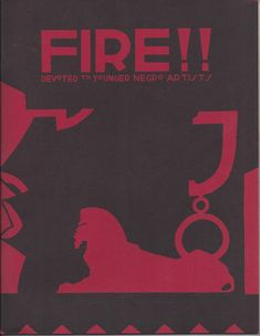 Fire!!, 1926. Cover art and typography: Aaron Douglas. You can get a complete full-sized reproduction of Fire!! here: http://firepress.com/fire/fire.html, or at the Schomburg Center bookstore.