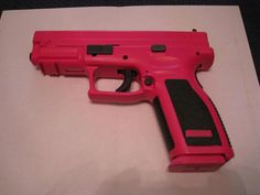 Springfield Armory XD9 with duracoat Bronx rose & a white base coat.