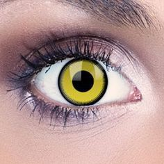 Brighten up your look with these amazing saw yellow contact lenses . These stunning green contact lenses have a saw blade design in luminous bright green, perfect for making a statement.    Dream Eyes Contact Lenses make it easy to transform your look – perfect for Halloween, fancy dress and edgy fashion statements.  These fashion contact lenses offer exceptional comfort and great value for that freaky Halloween style.     FDA approved   1 year life span once opened   42% water content…