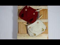 Cómo tejer un cubre pañal-braguita-calzón (dos agujas) PATRÓN 2 tallas - YouTube