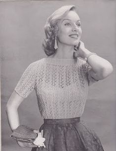 The Jacobite Rose: Free Pattern Friday: Lacy Blouse