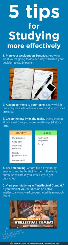 5 tips to study more effectively