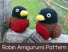 crochet pattern grille de robin oiseau amigurumi pdf