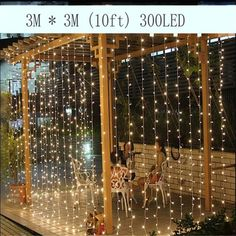 3M x 3M 300 LED Outdoor Home Warm White Christmas Decorative xmas String Fairy Curtain Garlands Strip Party Lights For Wedding-in LED String from Lights & Lighting on Aliexpress.com | Alibaba Group