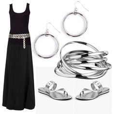 How to Accessorize a Black & White Dress. Choose a metal tone, such as silver, gold or copper, and wear accessories either made of that metal, or in a matching color. Consider adding a belt in the color of the metal you chose to pull the whole look together.