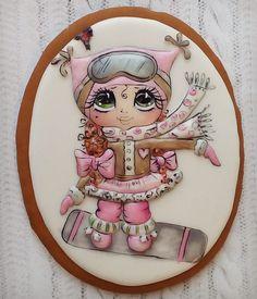 Елена Кортусова - Мои прянички | OK.RU Fancy Cookies, Cute Cookies, Royal Icing Cookies, Cupcake Cookies, Gingerbread House Icing, Gingerbread Cookies, Christmas Desserts, Christmas Cookies, Paint Cookies