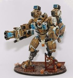 - Tau Riptide by Sigur Tau Battlesuit, Tau Army, Tau Warhammer, Sf Movies, Tau Empire, Imperial Knight, Warhammer Models, Warhammer 40k Miniatures, Mini Paintings