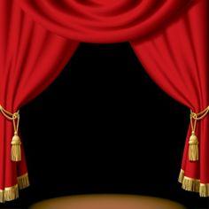 Red Curtain Transparent Frame