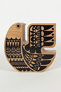 """""""In Karelia there was an ancient belief in the Sielulintu or Soul bird. It was believed the Sielulintu (Soul Bird) protected a persons soul at its most. Good Luck Symbols, Wooden Bird, Scandinavian Design, Screen Printing, Folk Art, Illustration, Creations, Carving, Marimekko"""
