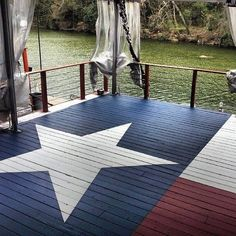 Texas flag deck