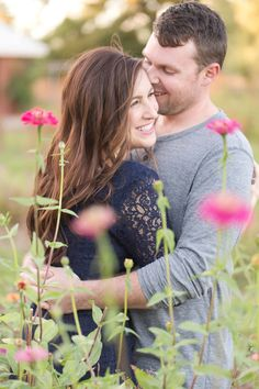 Farm at South Mountain, fields of wild flowers, and tree lined paths are so romantic for this engagement session.