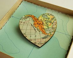 Bespoke Map Brooch - This would not be hard to make!