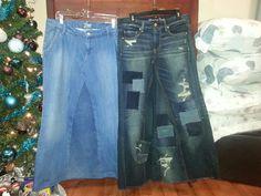 Jean skirts I made
