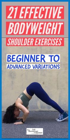 This post goes over 21 different shoulder exercises, each one focusing on a specific muscle of the shoulder complex. All exercises can be done at home with no equipment or at the gym. In the end we give a shoulder workout perfect for men and women Insanity Workout, Best Cardio Workout, Workout Videos, Bodyweight Shoulder Workout, Workout Men, Training Workouts, Dumbbell Workout, Workout Tips, Workout Routines