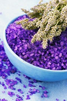 PURPLE WITCH SALT: In a Mortar and Pestle, blend together Sea Salt, Purple Herbs and Flowers of your choice, such as Lavender or Lilac, and purple food coloring if you choose. Imagine the intent of why you are using this Salt, as you place the energies into the blend.  * Double Salt to other ingredients. Store in a jar in a cool, dry place.