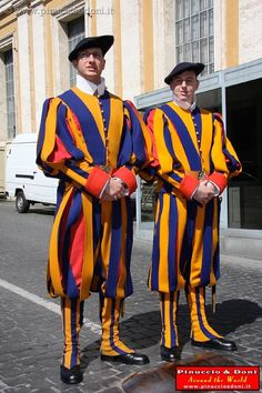 9) The Swiss guards. The private guards of the Pope