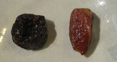 Difference between: dates and prunes.