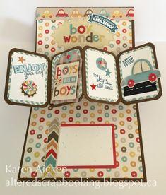 Karen Aicken using the Pop it Ups Twist Circle die set (converted into a panel card) by Karen Burniston for Elizabeth Craft Designs