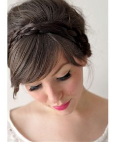 We adore this braided headband, perfect if you have a fringe. Add volume to your crown, sweep your fringe to the side and VOILA!