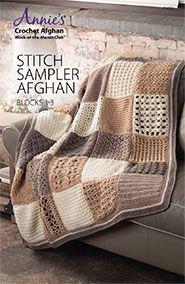 Cosy Afghan Crochet ALong - Free Pattern (Beautiful Skills Crochet Afghan Stitch, Annie's Crochet, Crochet Blocks, Crochet Home, Crochet Blanket Patterns, Learn To Crochet, Baby Patterns, Knitted Afghans, Crochet Blankets