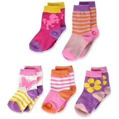 Melton Baby-Mädchen Numbers 5er Pack Socken Gemustert