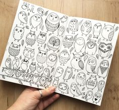 by klika design drawing animals, animal drawings, doodles, Doodle Inspiration, Sketchbook Inspiration, Art Sketchbook, Owl Doodle, Doodle Art, Doodle Drawings, Animal Drawings, Drawing Animals, Books Art