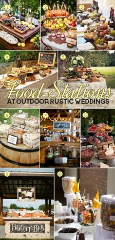 Weddbook is a content discovery engine mostly specialized on wedding concept. You can collect images, videos or articles you discovered  organize them, add your own ideas to your collections and share with other people - Deliciously stylish ideas for food stations at outdoor rustic weddings from taco bars to wine and cheese displays to pie tables. See all the great finds at the Wedding Bistro at Bellenza…