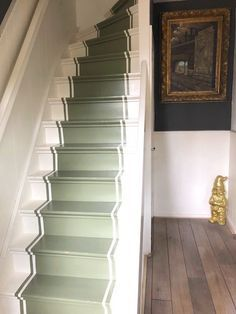 Painted stairs, geverfde traploper