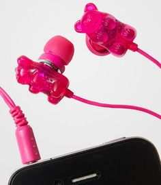 Fancy - Scented Gummi Bear Earbuds - Gummy Bear In-Ear Headphones Cute Phone Cases, Iphone Cases, Cute Headphones, Iphone Headphones, Cool Gifts For Teens, Tech Gifts, Iphone Accessories, Kawaii Accessories, Gummy Bears