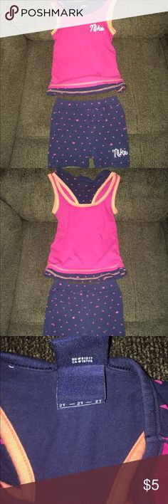 Nike Toddler Summer Outfit Set Size 2T Nike Toddler Summer Outfit Set Size 2T! This is in Used Condition but Still has a lot of life left in it! So cute! No Trades! No Mercari! Nike Matching Sets