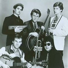 Squeeze. Photo probably about the time of the album East Side Story early 1980's due to Paul Carrack being in the shot.