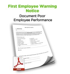 First Employee Warning Notice #free #hr #tool #discipline #termination