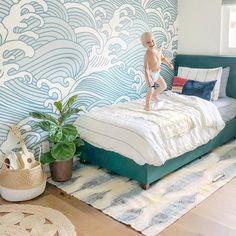 Kids nautical room - 36 Fascinating Nautical Kids Room Ideas To Make Your Home Look Outstanding – Kids nautical room Boys Surf Room, Girl Room, Surf Bedroom, Kids Bedroom, Master Bedrooms, Bedroom Decor, Boys Room Wallpaper, Surfer Room, Kids Room Murals