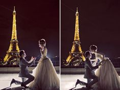 20 Magically Romantic Nighttime Engagement Photos