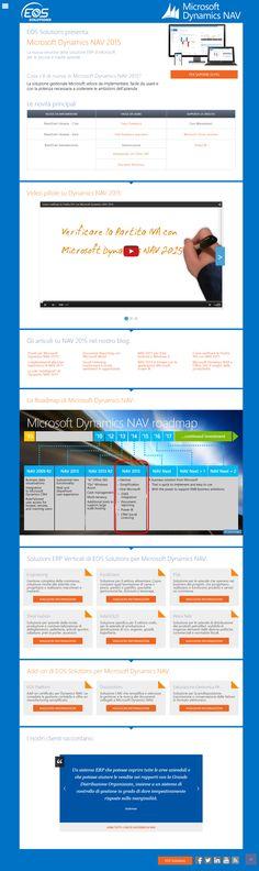 Landing Page Microsoft Dynamics NAV 2015 - web design, copywriting, front end development