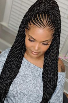Cute Braids Styles Make Your Look Attractive - Cute Braids Styles Make Your Look Attractive Versatile And Modish Ladies Waist Length Tribal Braids Can Be Worn Multiple Ways Feed In Braids Ponytail Long Braids Braided Ponytail Braid Hair L Box Braids Hairstyles, African Braids Hairstyles Pictures, Braided Ponytail Hairstyles, Braided Hairstyles For Black Women, Girl Hairstyles, African Braids Styles, Ponytail Ideas, Hairstyles For African Hair, Cornrolls Hairstyles Braids