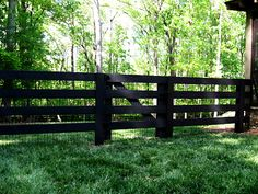 4 board fence and gate