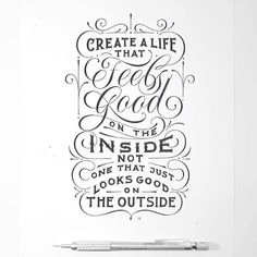 Create a life you're proud of inside and out