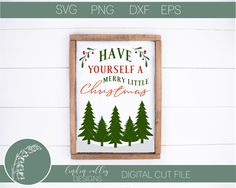 Have Yourself A Merry Little Christmas SVGDXFPngEpsCut | Etsy